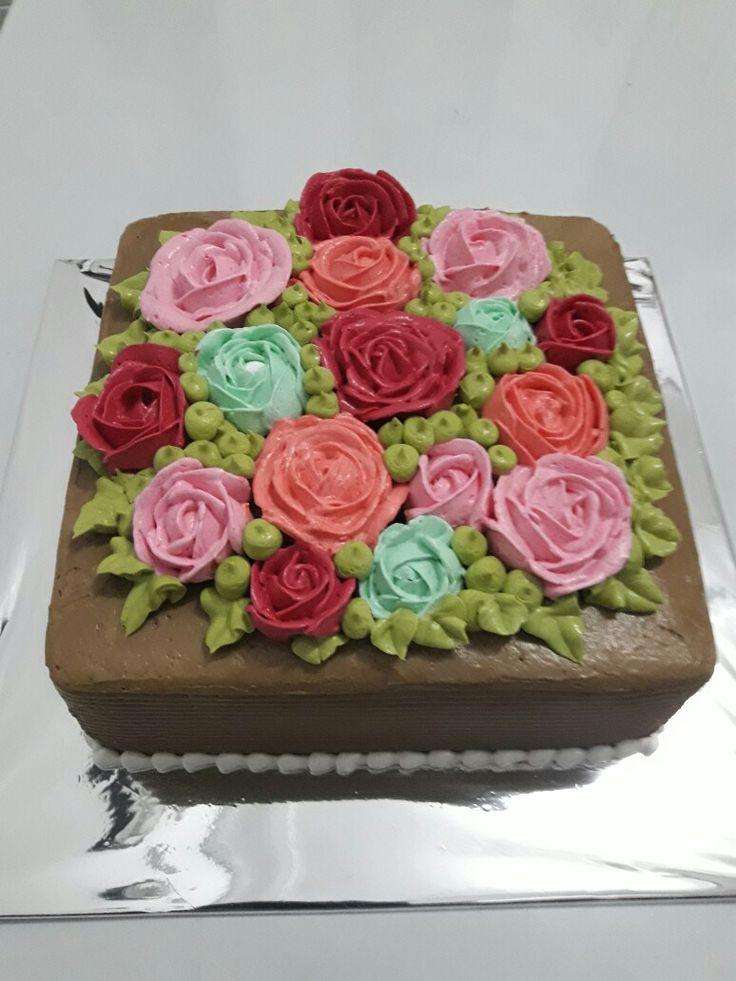 Kue hias bunga