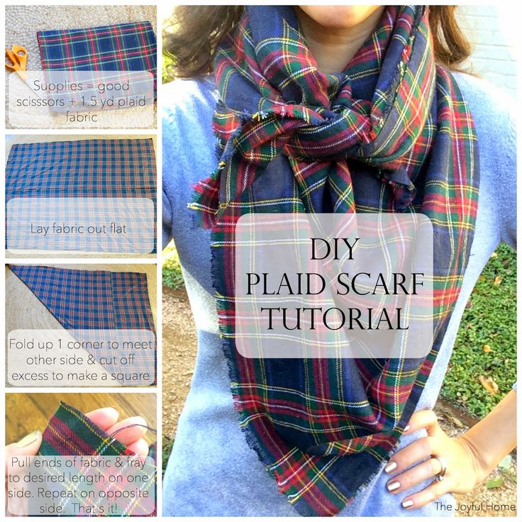 Time to get cozy. With this DIY tutorial from The Joyful Home, battle the cold temperatures by creating a plaid scarf that costs a fraction of one bought in a store. Plus, it's super stylish.