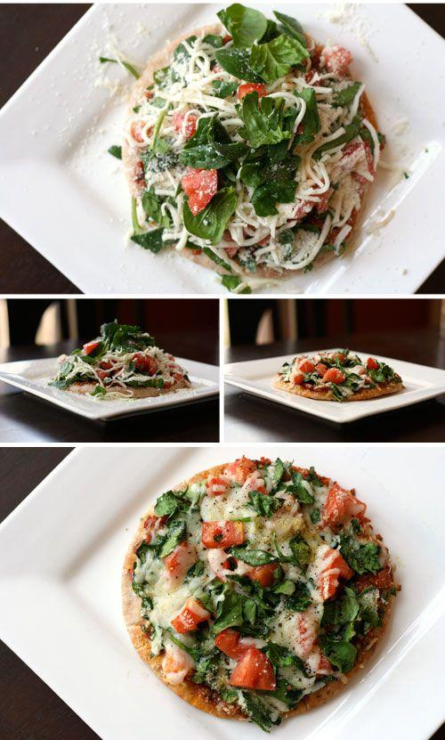 Whole Wheat Mediterranean Flatbread- Great lunch idea