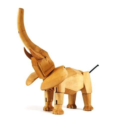 Hattie the Elephant from @Areaware. Design by David Weeks. #wooden #toy