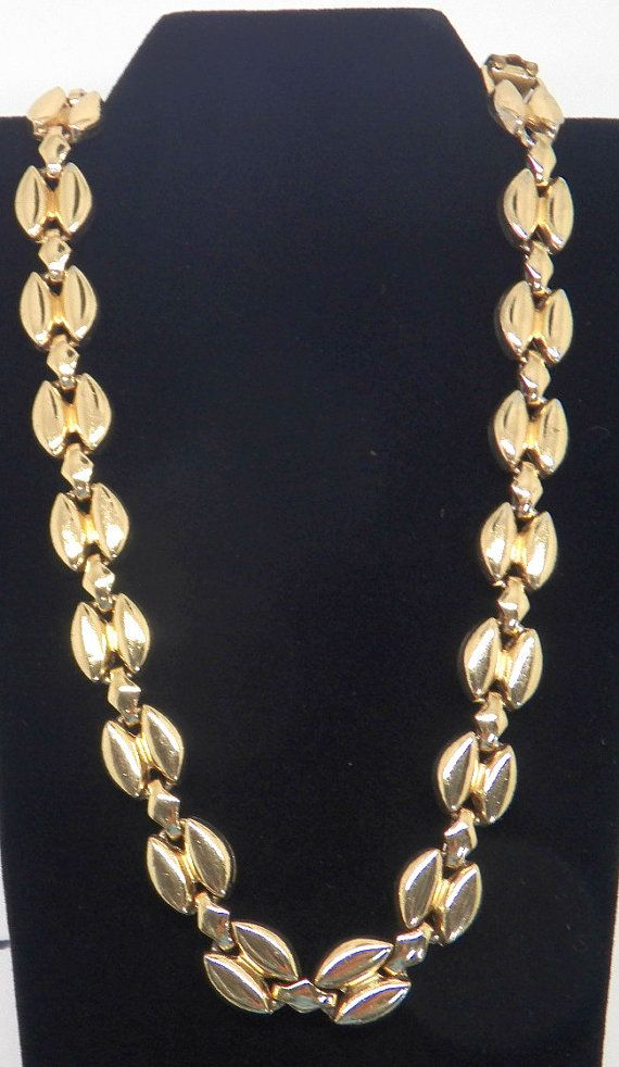 Bergere Necklace, Heavy Gold Necklace, Gold Chain, Designer Vintage on Etsy, $20.40 CAD