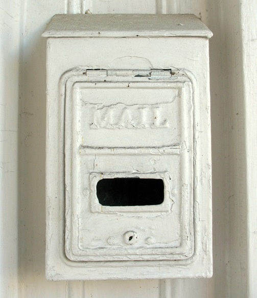 vintage mailboxes - great conversation pieces and handy when hung on the porch for friends to leave a message or return a borrowed item.