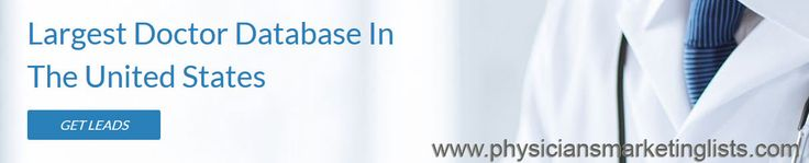 Physiciansmarketinglists.com provides the largest doctor database in The United States. http://physiciansmarketinglists.com