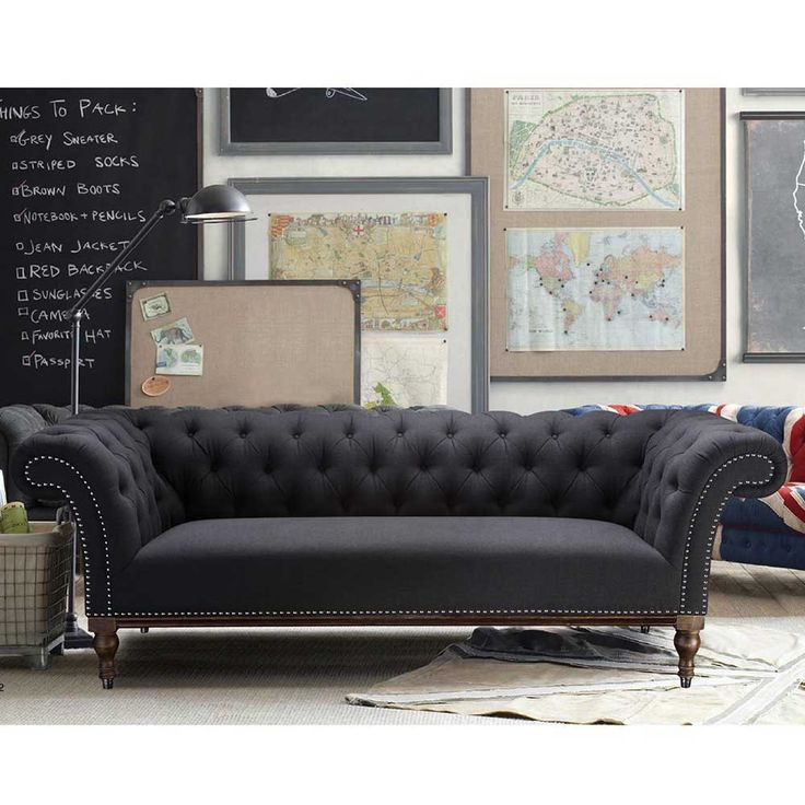Retro Sofa im 60er Stil in Anthrazit hier auf Pharao24.de bestellen. Wenn Sie ein Fan der 60er  Jahre sind ist dieses Sofa genau das richtige für Sie, aber auch in eine moderne Wohnungseinrichtung lässt es sich perfekt einfügen. Jetzt klicken und entdecken   http://www.pharao24.de/retro-sofa-labienna-im-60er-stil.html#pint