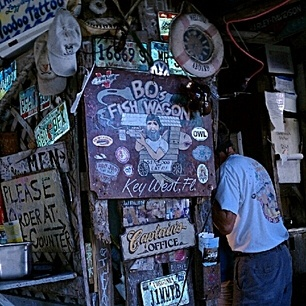 B.O.'s Fish Wagon in Key West is known for its great fish sandwich.