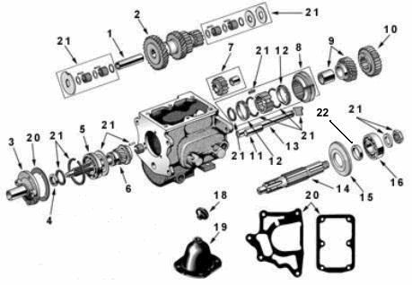 T 90 Transmission Exploded View Diagram Willys Jeep T 90