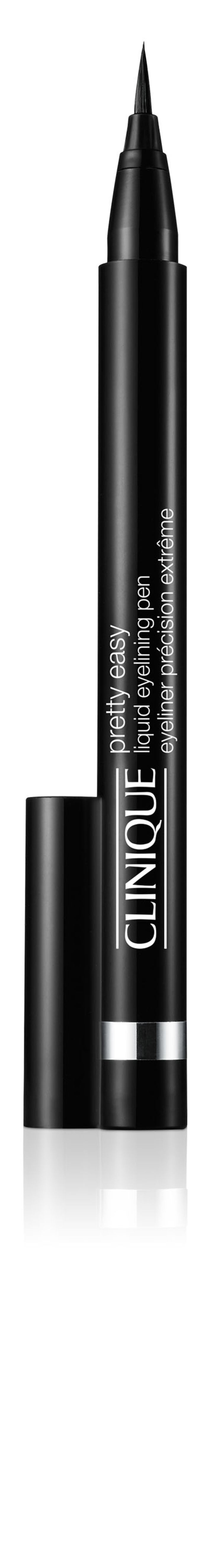 NEW Clinique Pretty Easy Liquid Eyelining Pen is a tapered, precision brush that easily paints on pure, deep colour in a continuous, even and defined line. It promises 12-hour smudge resistant and transfer proof wear that can be used effortlessly to create a bold and dramatic look.