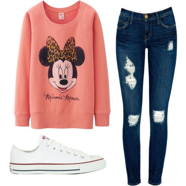 A fashion look from February 2014 featuring Uniqlo tops, Current/Elliott jeans and Converse sneakers. Browse and shop related looks.
