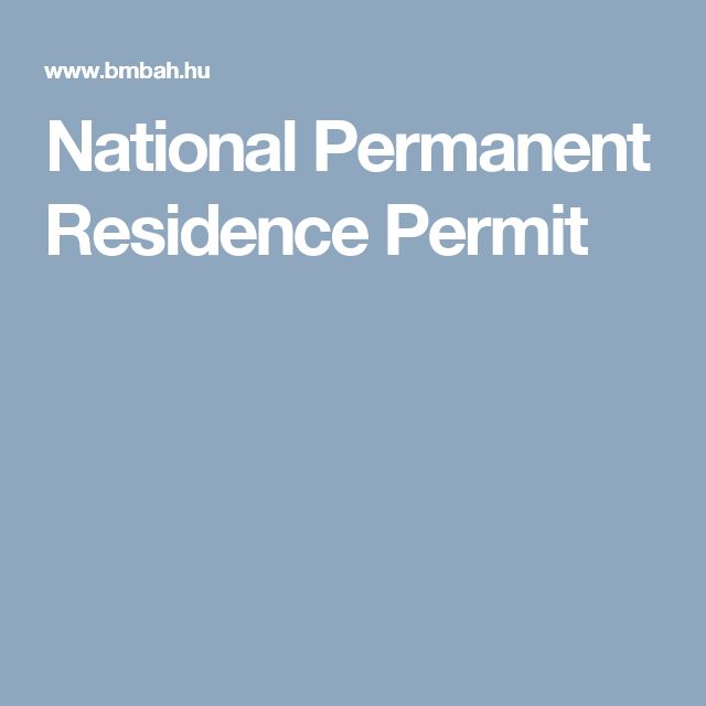 National Permanent Residence Permit