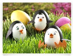 Who doesn't love penguins? Bring one of the most popular zoo exhibits to your home for the spring holidays. Easter eggs are perfect for penguin disguises with their round bellies and waddling nature. Make a couple dozen and re-create the busy shores of Antarctica.
