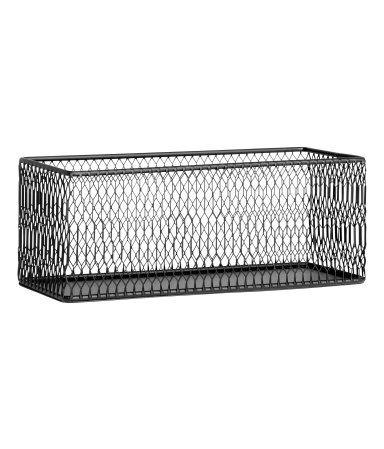 Förvaringskorg i metall | Svart | H&m home | 9x9x24