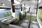 Le Train du Massif de Charlevoix : modélisation intérieure - Magnifique !
