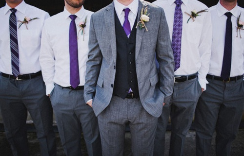 YES. Love it! Purple will b my color for my wedding!! Love this for the men