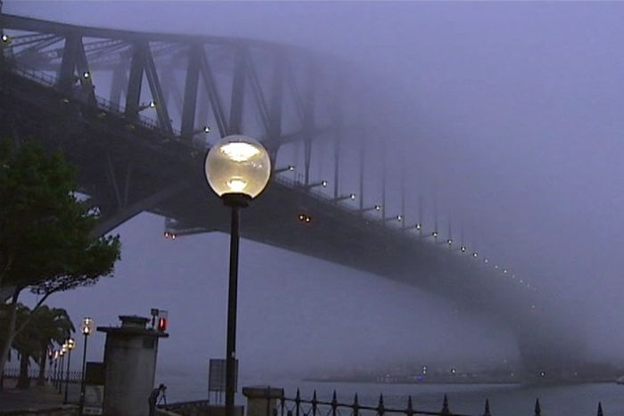 travel delays in sydney due to fog today 28/05/13