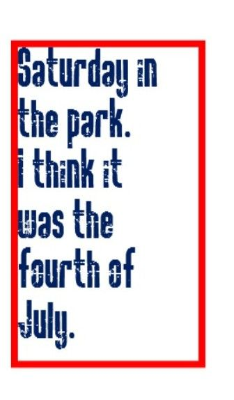Chicago - Saturday in the Park - song lyrics, music lyrics, songs. music quotes, song quotes