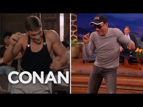 "Jean-Claude Van Damme Recreates His ""Kickboxer"" Dance Scene  - CONAN on TBS. He's still got it; LOVE him!!! <3 <3"