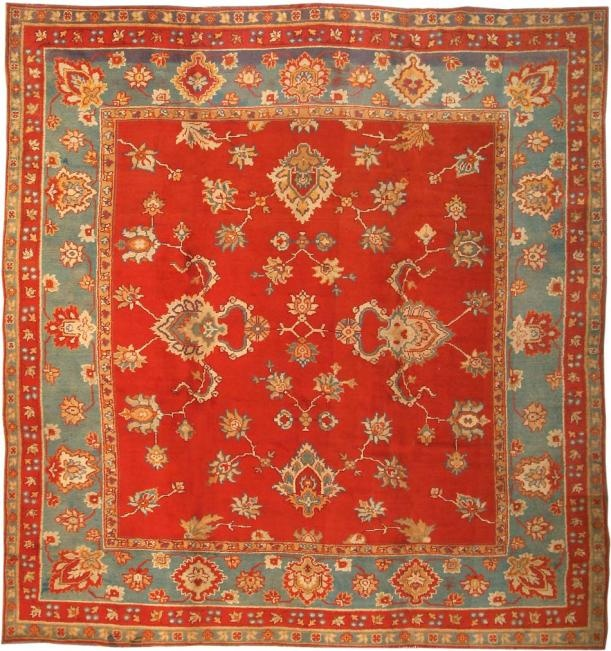 Antique Donegal Rug, Ireland, Circa 1900