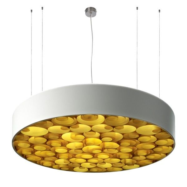 The LZF Spiro S Pendant. Available in 4 screen colours and 11 wood veneer finishes. Seen here: http://www.williedugganlighting.com/shop/lzf-spiro-s-pendant-lighting?