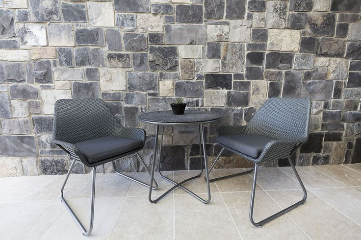 A perfect backdrop for your courtyard. Visit our website to learn the various characteristics of each stone and receive individual assistance in choosing just the right product to beautify your home and garden.  http://www.armstone.com.au/product/walling/stone-cladding/ruby-stone-wall-cladding/