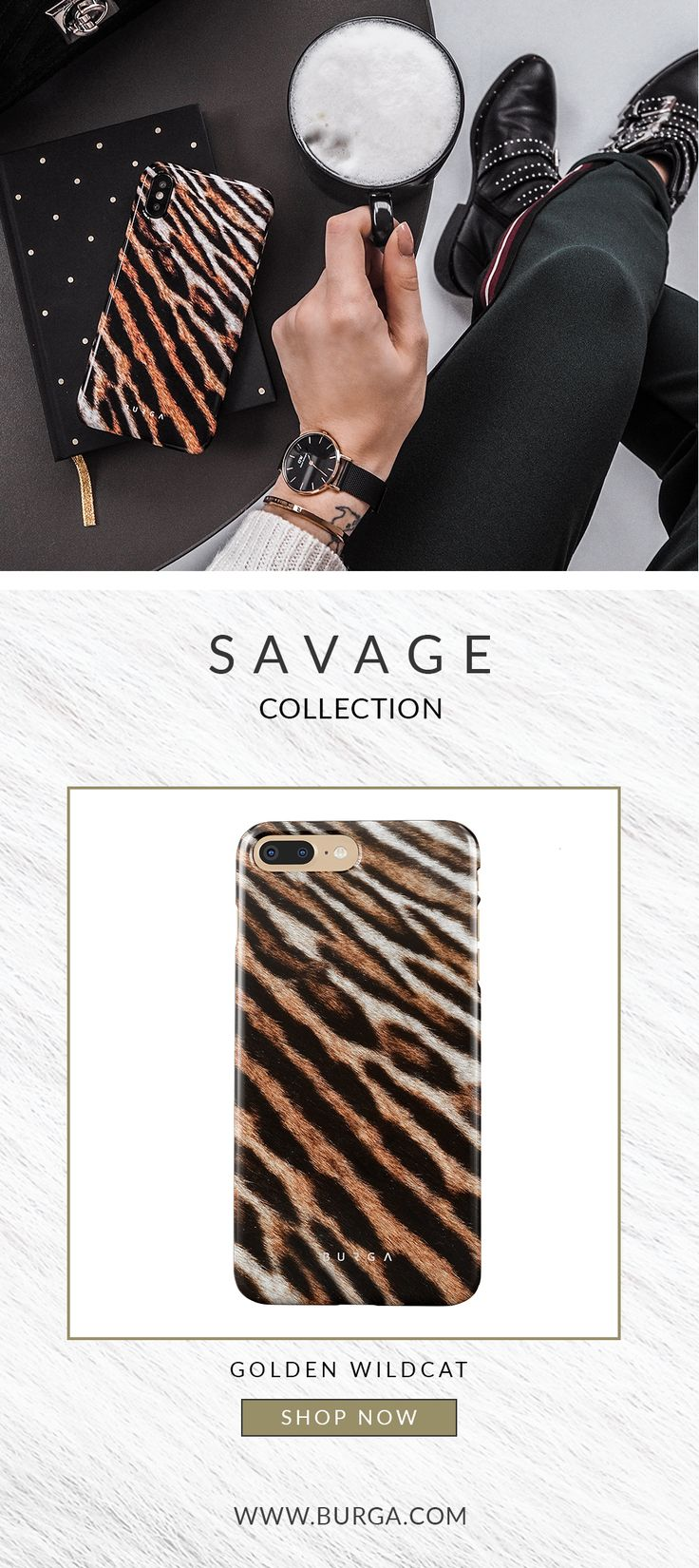 Only when sense of style, strength and power join forces, something this savage happens. Not only will this case give full protection to your device but it will also be your booster of beast mood.  burga Golden Wildcat Tiger Fur iphone 7 and iphone 8 hard case