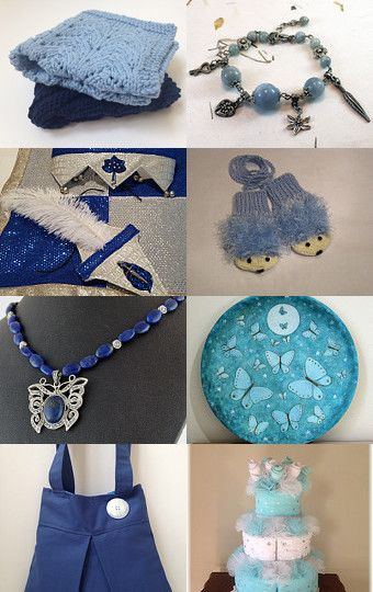 Paying It Forward in Blue by Bonnie Sernesky on Etsy--Pinned with TreasuryPin.com