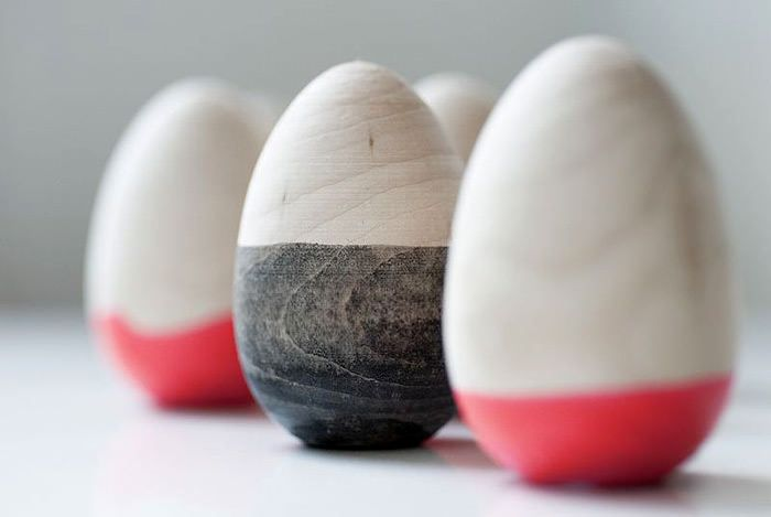 DIY Dipped Wooden Easter Eggs