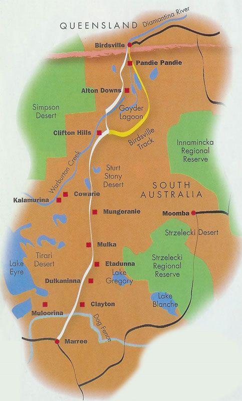 Birdsville Track Map