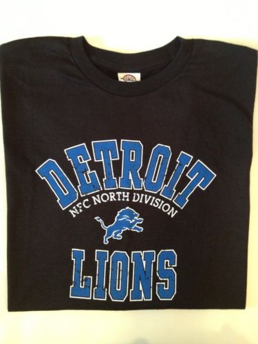 NFL DETROIT LIONS FOOTBALL TEAM APPAREL T SHIRT SIZE XL Only $12 + Free Shipping