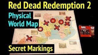 Red Dead 2 World Map.Red Dead Redemption 2 Hidden Easter Egg In Physical World Map