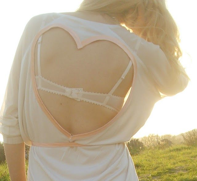 a pair and a spare . diy fashion: DIY Love Heart Back Top
