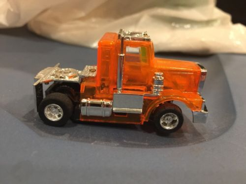 TYCO NEON ORANGE PETERBILT CAB HO SCALE SLOT CAR RARE