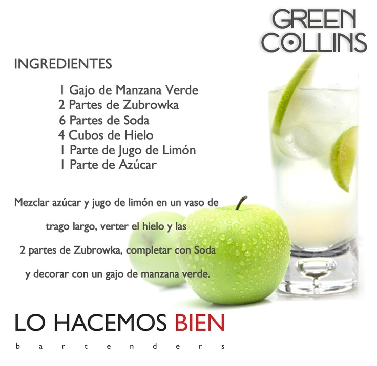 Green Collins - Festejá con Estilo! de LO HACEMOS BIEN bartenders Como preparar un Green Collins - Recipie How to prepare a Green Collins - Party with style!