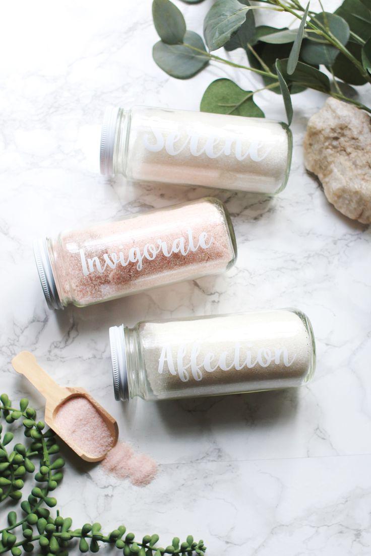 Make your own infused bath salts / cadeau aux invités