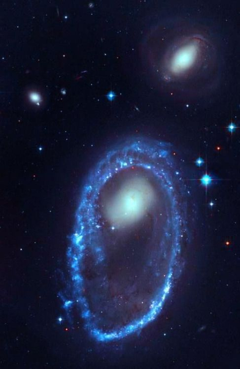 Located approximately 300 million light-years away in the constellation of Volans, AM 0644-741 is one of the most spectacular 'Ring Galaxies' we currently know. - Image Credit: NASA, ESA, and The Hubble Heritage Team (AURA/STScI)