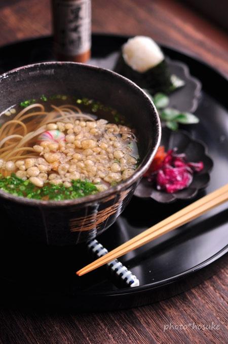 Buckwheat noodle soup