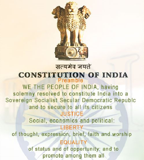 Features of Indian Constitution Indian Constitution Sovereign, Socialist, Secular, Democratic Republic Supreme law of the