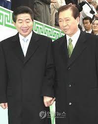Korea's two great presidents, Mr. Kim & Mr. Roh.