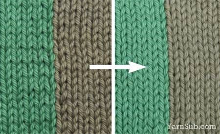 Technique for making stitches more uniform while doing colorwork