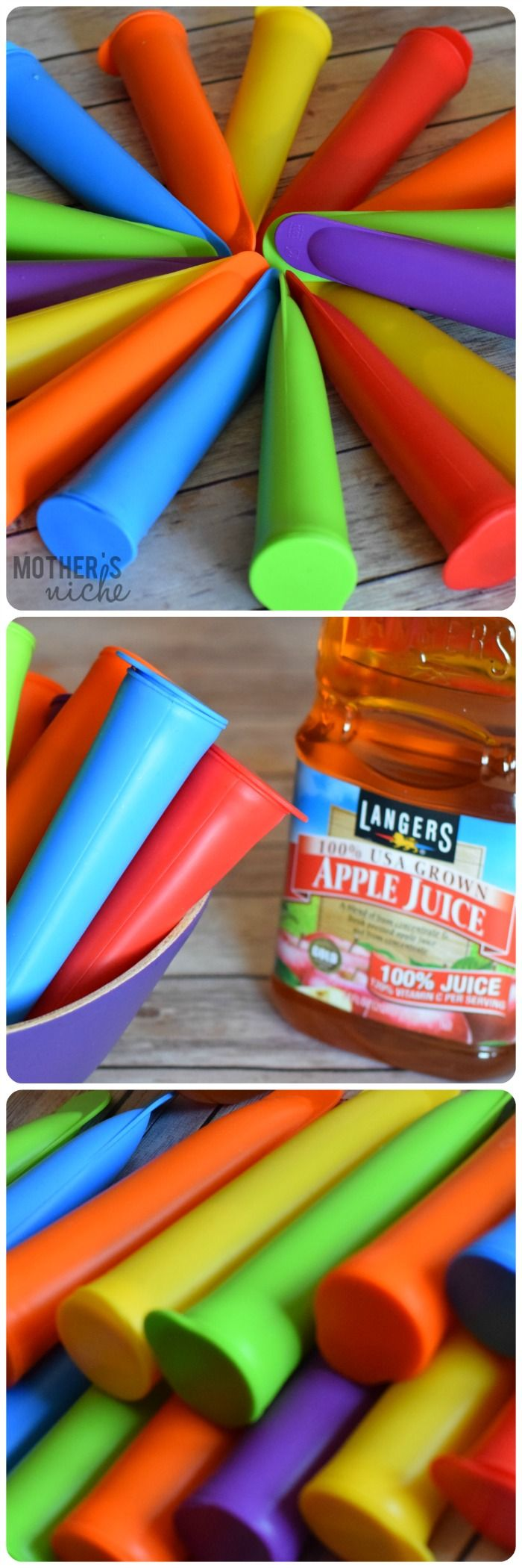 "Make your own ""otter pops"" this summer with 100% juice and use these awesome reusable ice pop molds! Also, 6 awesome homemade popsicle recipes!"