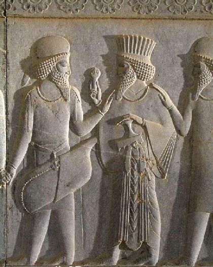 Achaemenids (Persepolis) - Medes and Persians at eastern stairs of the Apadana.