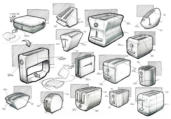 Sketches 2012 by Nicholas Baker, via Behance.
