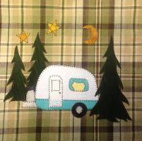 Quilting : Camper Sweet Camper applique tea towel