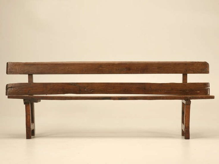 Rustic Dining Bench With Back   Google Search