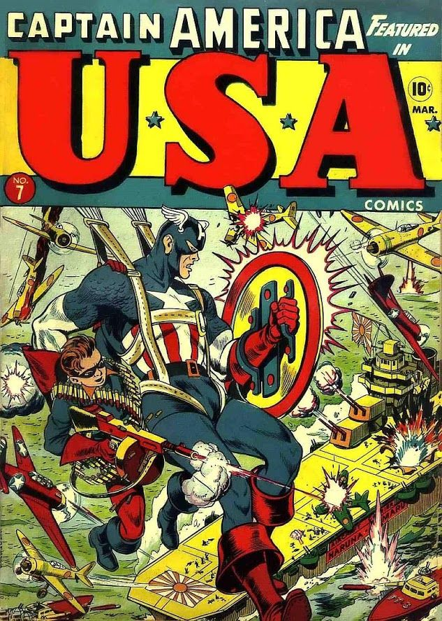 USA Comics #7 (Mar '43) cover by Alex Schomburg