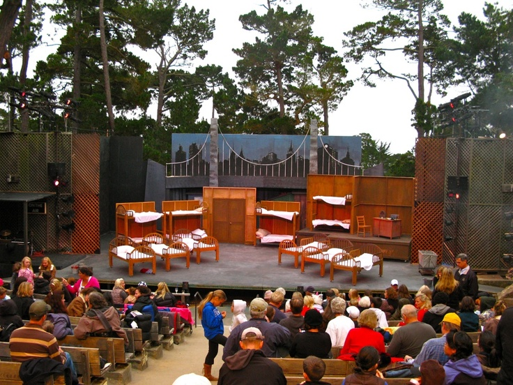Forest Theater With The Orphanage Set For Annie Set