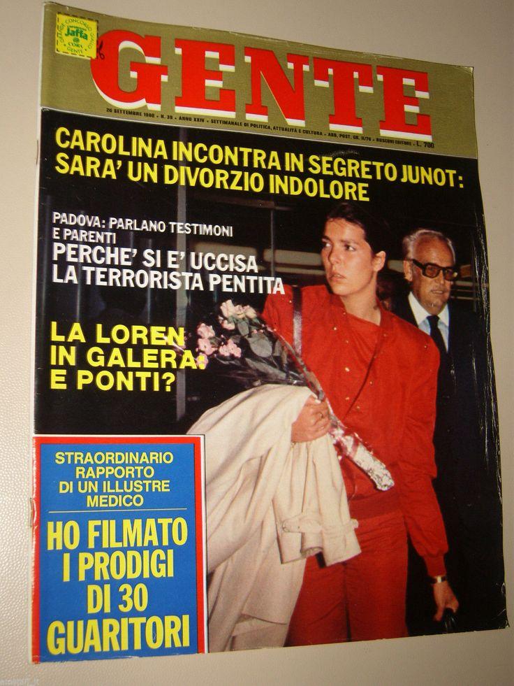 GENTE=1980/39=CAROLINE DE MONACO=SALVADOR DALI=LORY DEL SANTO=MAURIZIO MICHELI=