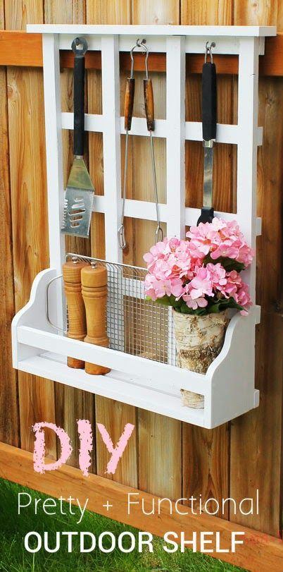 Ana White | Build a Outdoor Window Shelf with Lattice | Free and Easy DIY Project and Furniture Plans