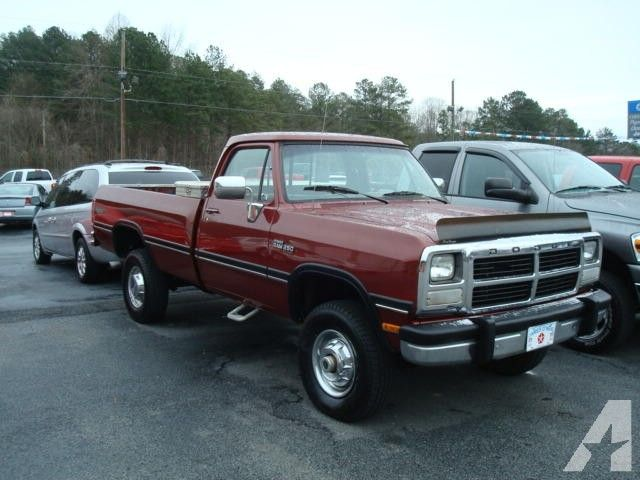 1989 93 dodge diesel 4x4 for sale 1992 dodge w250 for sale in bremen georgia classifieds. Black Bedroom Furniture Sets. Home Design Ideas