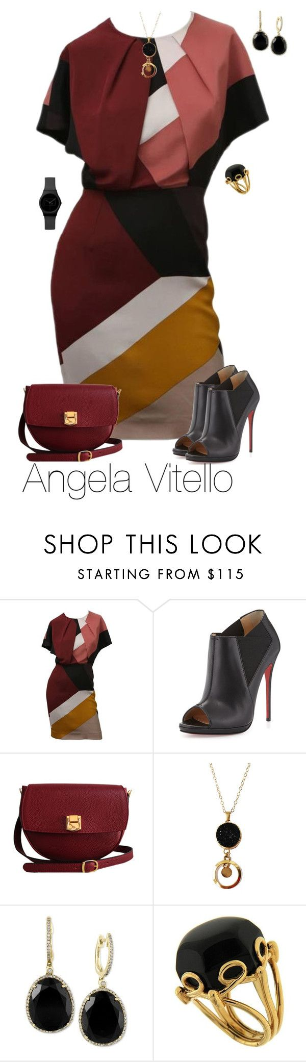 """Untitled #666"" by angela-vitello on Polyvore featuring Fendi, Christian Louboutin, The Code, Effy Jewelry, Valentin Magro, women's clothing, women, female, woman and misses"