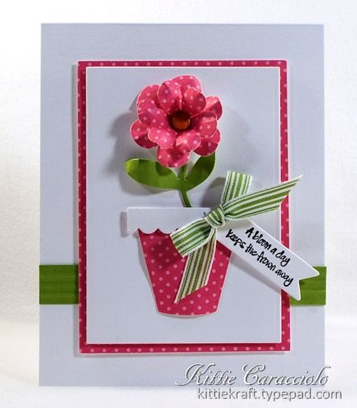 Darling Bloom Where You're Planted Card by TE Fan Kittie Caracciolo! 8-) #Cardmaking, #JustBecause, #Encouragement